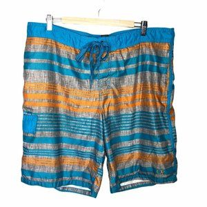 OP Ocean Pacific Swim Trunks Striped Large 36 38